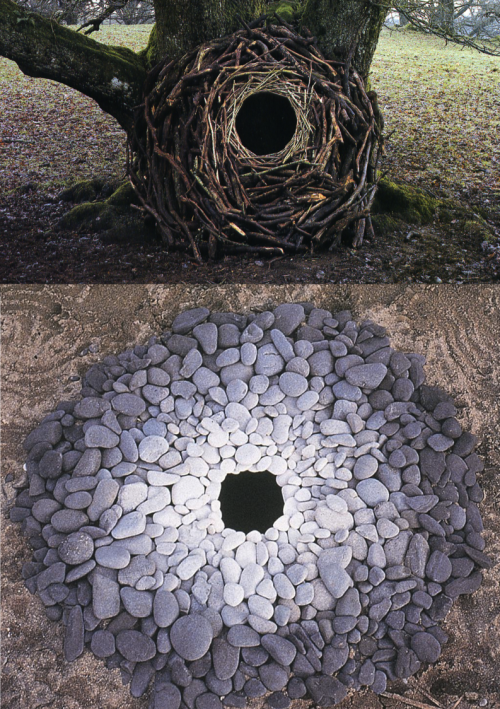 these are great.  szymon:  works in nature by Andy Goldsworthy