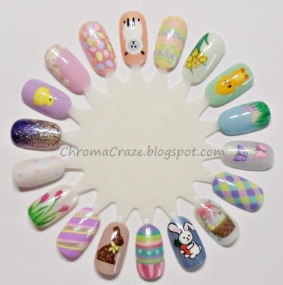chromacraze:  Easter Nail Art - ChromaCraze