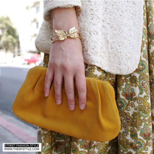 couturecourier:  I want that bow bangle! (via STREET FASHION STYLE)