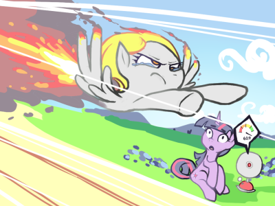 fillydelphia:  royalcanterlotvoice:  60.9 DERP POWER by *Karzahnii  When this baby hits 88 wing power, you're gonna see some SERIOUS SHIT.  skdljfslk <3