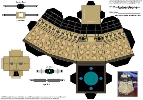"A printable Dalek! The only bad thing about it is, it will ""EXTERMINATE"" your ink."