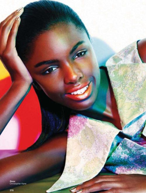 modelsofcolor:  Leomie Anderson in Glamour UK, April 2012. Photographed by Christ Craymer