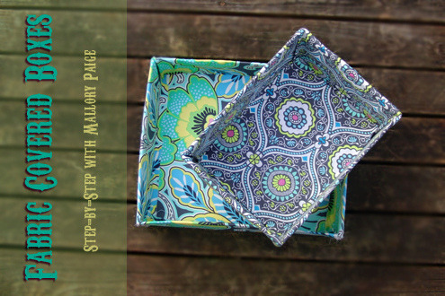 DIY Fabric Covered Box