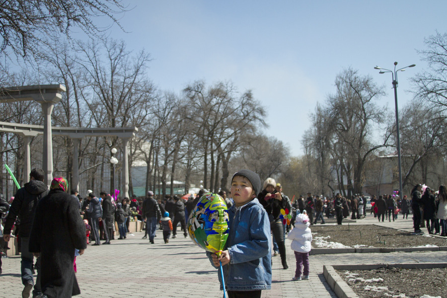 Boy celebrating Nouruz, Bishkek, Kyrgyzstan. Sorry for the unintentional absence. I've been (somewhat) regularly updating my other blog, Ivory Pomegranate, and have let this one fall by the wayside. I took many lovely photos in the center of Bishkek during the Nouruz celebrations last week; this one was an early favorite. Stay tuned for more!