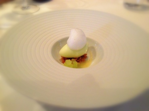 SIERRA BEAUTY APPLE SORBET - (Toasted oats and ginger nuage) - French Laundry - Yountville, CA