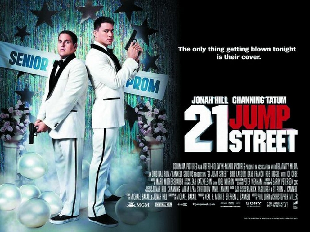 "21 Jump Street (2012) - Directed by Phil Lord, Chris Miller - Rating: 5/5 After viewing the trailer for the first time, it seemed like ""21 Jump Street"" had the potential to be a very funny and entertaining movie. Of course trailers have been known to stretch the truth at times, but in this case the movie delivered on almost every level. Jump Street is mainly about two clueless rookie cops that are forced to join an undercover task force that infiltrates local high schools and colleges. First I'll start with Channing Tatum and Jonah Hill, their characters are so well developed as caricatures of the ""Jock"" and ""Nerd"" stereotypes that we feel like we know these guys even before they say a word to each other. That's really what this movie does best as a comedy, it takes all too well known high school stereotypes that are perpetuated through other movies and television series, and completely flips it on it's head. Suddenly the Jock, doesn't fit in with the cool kids anymore and is forced to hang out with the nerds, and vice versa with the Jonah Hill's nerd character finally being accepted as one of the cool kids. Getting to see high school through their unique perspectives provided a lot of hilarious moments such as Tatum struggling through chemistry class, and Hill trying to compete in track and field. This may be the best performance I've seen from Tatum, as his comedic timing and instincts are surprising superb. The supporting characters are great as well, Rob Riggle and Ellie Kemper are great in their respective roles as the gym and chemistry teachers. Some of the drawbacks of the film are the underdeveloped sub plots of the high school drug trade, and had we'd seen a little more backstory, it would have made for even more dramatic resolution in the end. Ultimately, 21 Jump Street's best quality is its self awareness, with it's ridiculous plot, and spoofing of many great cop action films. //post by scott Tweet"