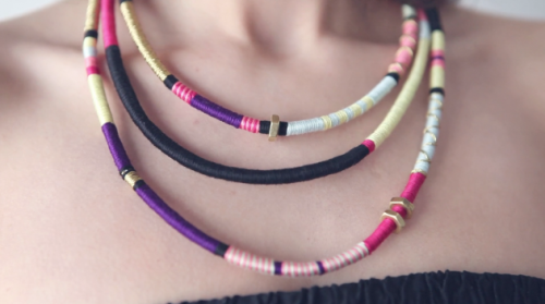 what-do-i-wear:  DIY tribal necklace (image: boatpeopleboutique)