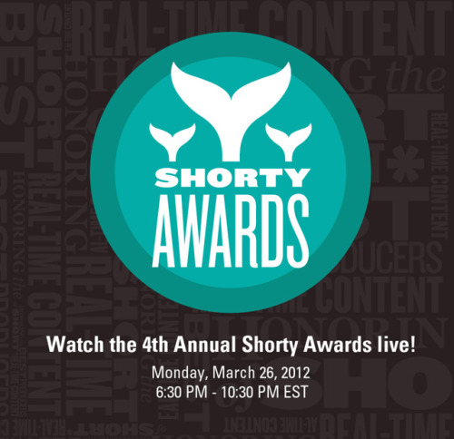 "missing-e:  Watch the 2012 Shorty Awards tomorrow night (7:30-9pm), live from TheTimesCenter in New York! Cheer Missing e on as it, hopefully, brings home a Shorty Award, in addition to the Shorty Vox Populi (based on popular vote) you already helped to win!  SFB editor Ernie Smith will be there too in hopes of the site winning a ""Microblog of the Year on Tumblr"" honor. We totally expect ""We Are the 99 Percent"" to kick our butt, but that doesn't mean we won't totally be freaking out in case we win. Watch tomorrow and cheer us on!"