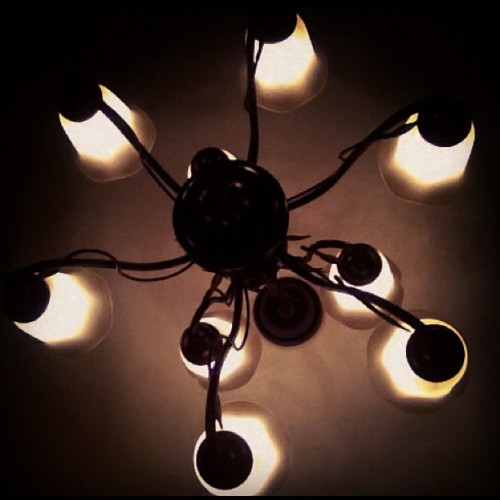 I eat dinner under this light. #personal #instagram #pointlesspicture (Taken with instagram)