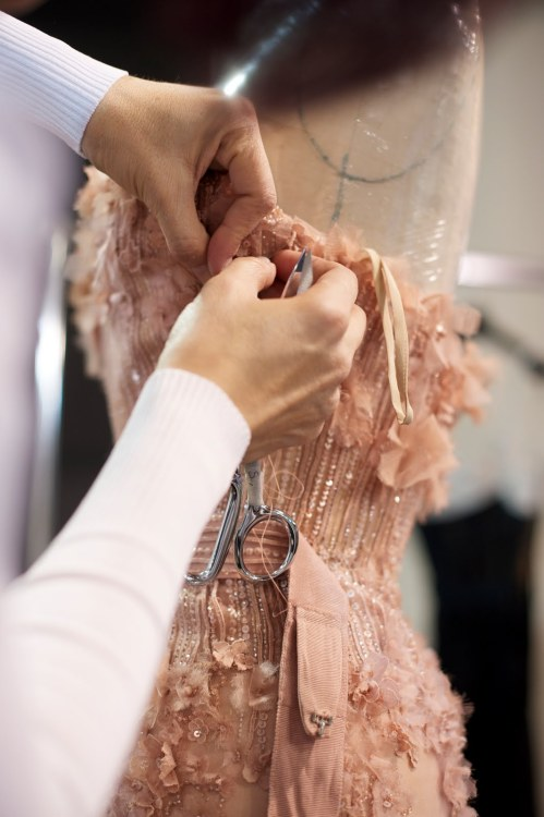 romantic-revolution:  Backstage Elie Saab Haute Couture SS 2011