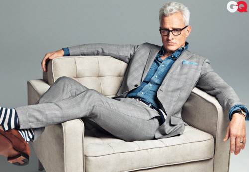 ivyROW: Dapper as ever, John Slattery for the GQ Style Bible