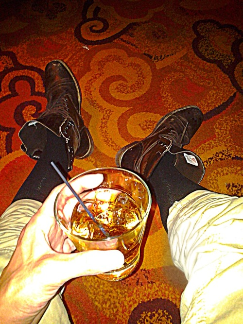 Crown in my cup, long polo socks fitted khakis, guess boots