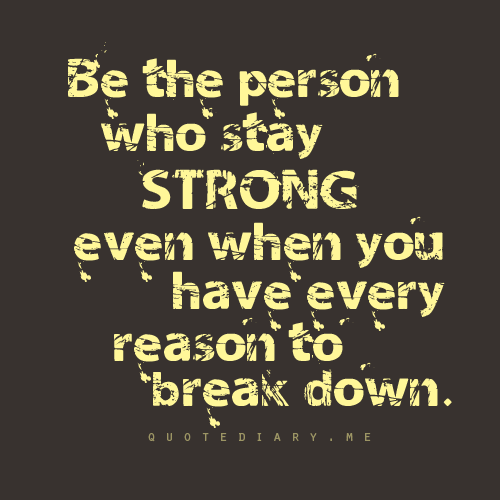 quotediaryofficial:  Be strong!