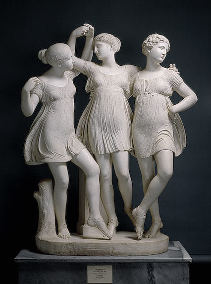 Carlo Finelli. Three Graces (Dancing Horae). 1824. Marble. State Hermitage Museum. St. Petersburg, Russia.