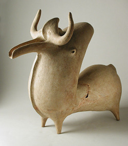Ram Western Iran, pottery vessel in the form of a ram (1350-800 B.C.). Found here.