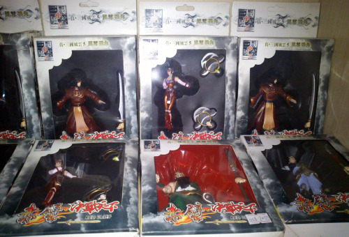 fluffcloudyao:  Three Kingdoms-Red Cliff Figurines Figurines from some adaptation of Three Kingdoms。 Maybe it's this game?   Is it indeed. And they look bootleg there for some reason. XD Those designs are from the first game…which is really old. *been playing the 7th one recently*