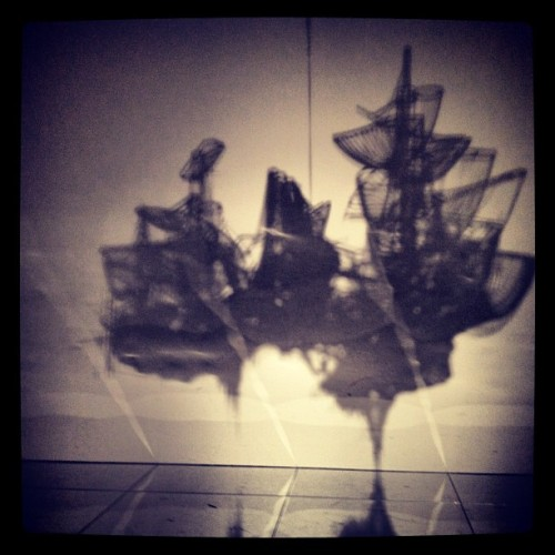 The shadow of Lee Bul.  (A shadow of her art, taken by me, at 森美術館.)