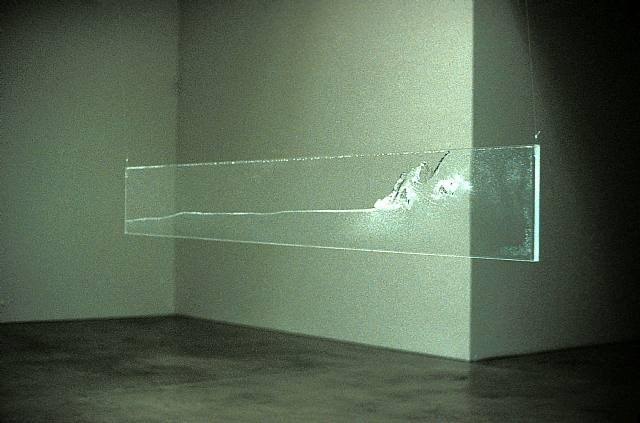 rifles:  Hans Haacke, Welle (The Wave), 1964