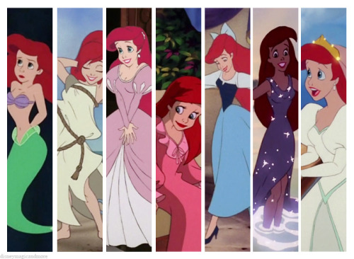 disneymagicandmore:  Princess Wardrobes | Ariel