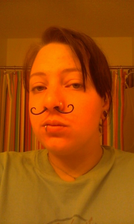 Bored at 3am with a mustache that's one size too small…