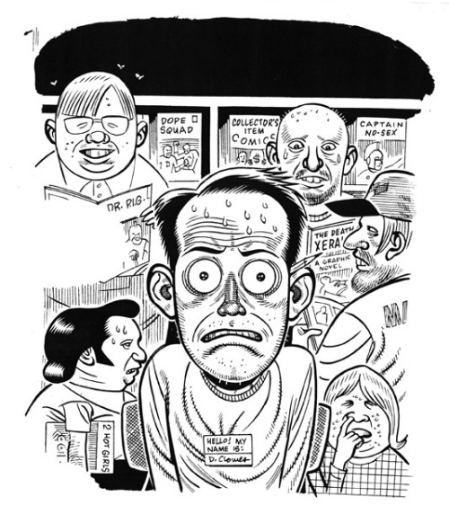stonyslov:  Daniel Clowes, self-portrait by fantagraphics on Flickr.