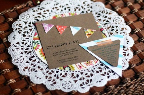 Love this banner doily invite!!