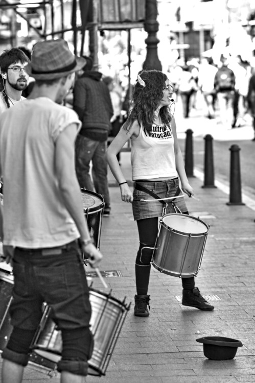 Rhythm in the street.