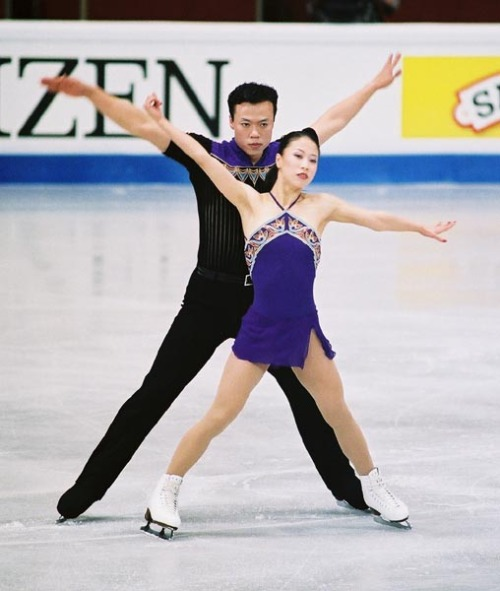 Xue Shen and Hongbo Zhao skating to Kismet by Bond for their short program at the 2004 World Championships. Photo by Andrea Chempinski.