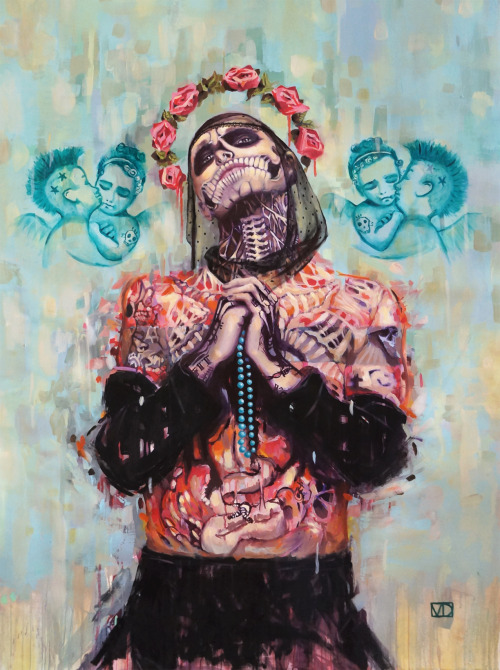 Portrait of Rick Genest aka Zombie Boy 130 x 97 cm, oil on paper