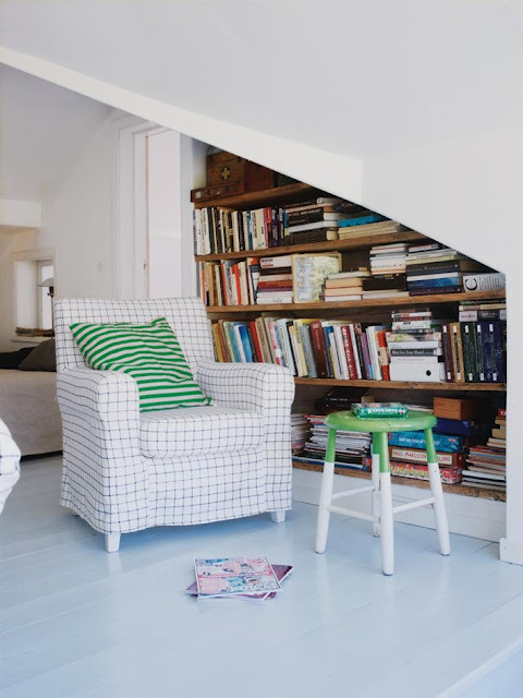 myidealhome:  built-in home library (via Mary made this.)