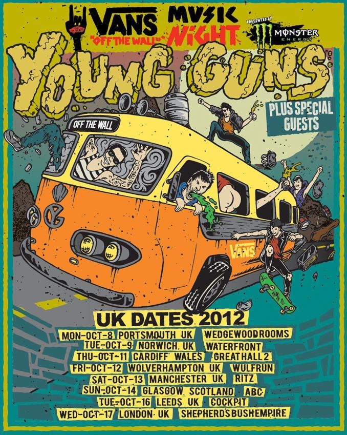 "Young Guns have announced UK dates as part of the ""Vans Off The Wall Music Night"" tour, the dates can be found on the image provided!"