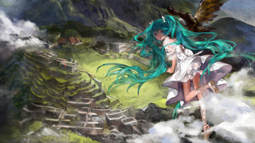 Miku in Machu Picchu by Susu