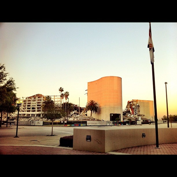 Old Orlando Magic Arena. My view this morning. #instagram #iphone #camera+ #Orlando #Magic #Amway #Arena (Taken with instagram)