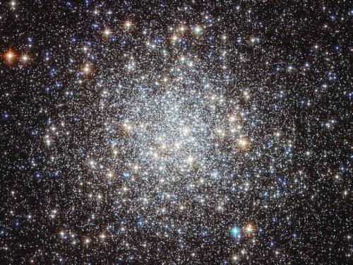 theatlantic:  Picture of the Day: Messier 9 Star Cluster  NASA's Hubble Space Telescope has taken this incredible picture of Messier 9, a globular star cluster located near the center of our galaxy. The cluster, located some 25,000 light years away, is too faint to be seen with the naked eye, but Hubble has captured more than 250,000 individual stars there. Globular clusters are believed to have emerged when the galaxy was quite young, and the stars that make up Messier 9 are calculated to be around twice as old as our sun.