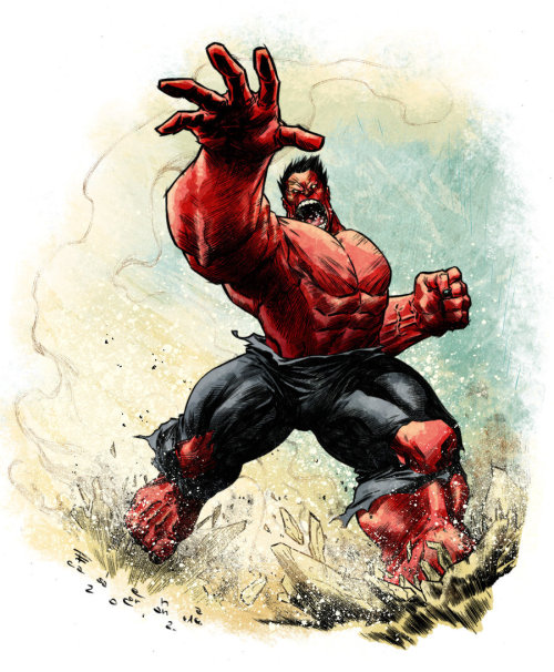 xombiedirge:  Red Hulk by Elena Casagrande / Blog