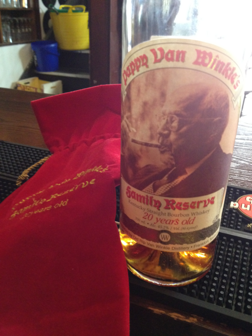 Our favourite bourbon - Pappy Van Winkle family reserve 20 year….