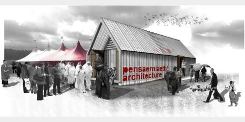 Pavilion Shortlist 1: Birds in the sky + Slatted timber = WIN!