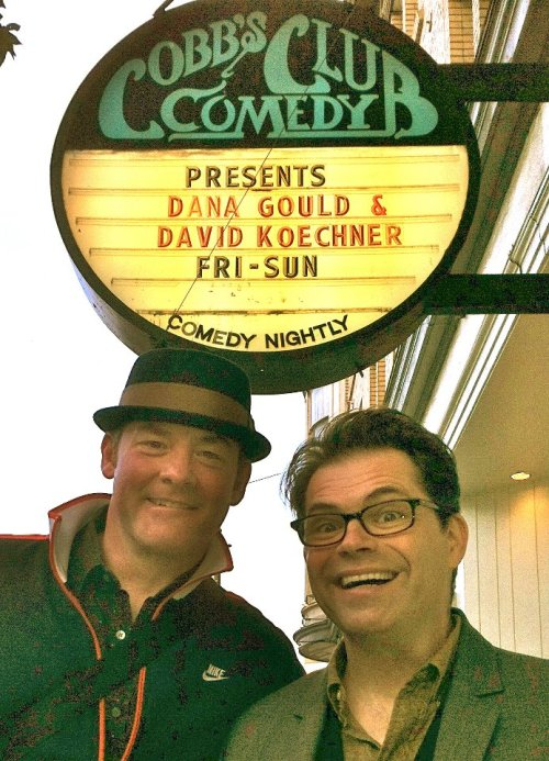 comedygreenrooms:  Cobbs Comedy Club - San Francisco, CA *not technically a green room, but a fun pre-show picture Photo via Dana Gould