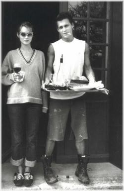 stolen-future:  Young Kate Moss and Johnny Depp