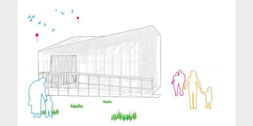 Pavilion Shortlist 4: Pavilion + Lots of lines + Birds in sky + Kids + Balloons = 5xWIN! This has to be the favourite.