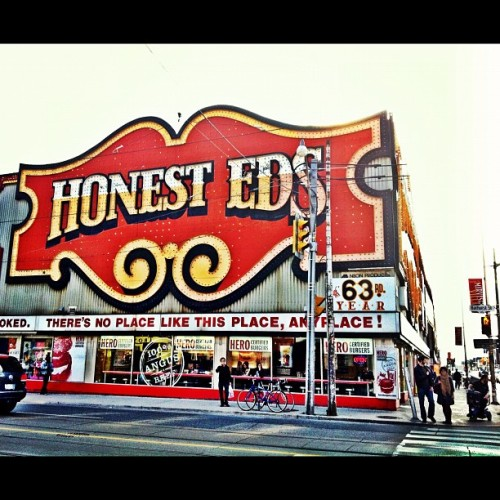 Honest Eds - #toronto #tdot #citylife #city #iphoneography #iphone #instagood #instamood  (Taken with instagram)