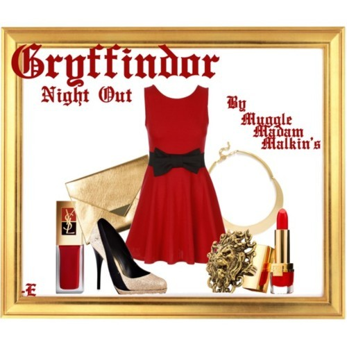 mugglemadammalkins:   A Night Out Look Inspired by Gryffindor