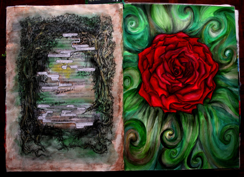 Rose GardenSketchbook, Acrylic