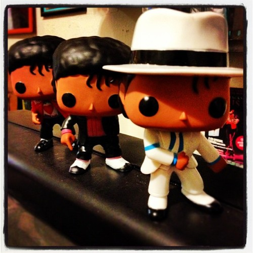 Really like the Funko Pop Rocks Michael Jackson Figures. My favorite is Smooth Criminal (Taken with instagram)