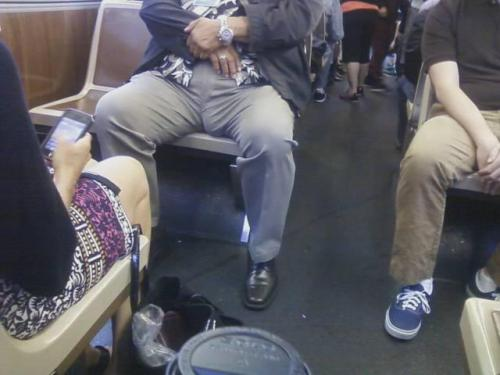 Is this Spinal Tap's new drummer riding Muni?