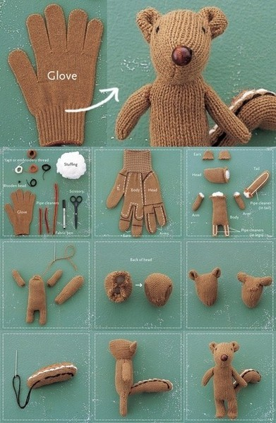 larkcrafts:  An adorable idea for all the gloves that have lost their partners.