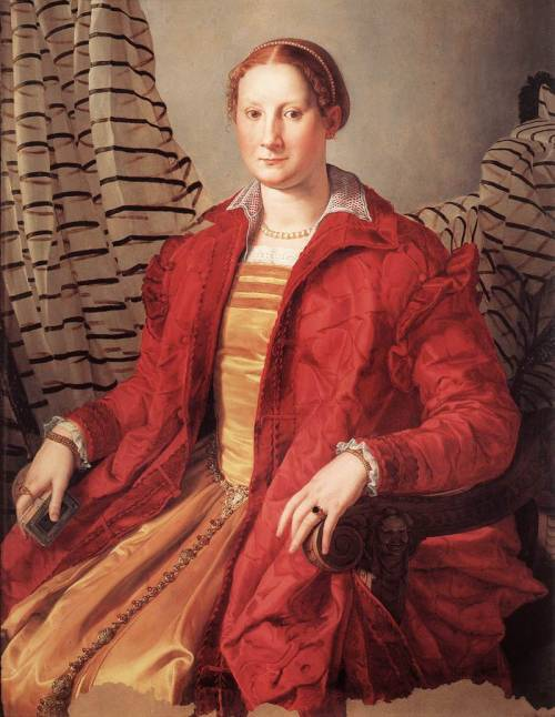 BRONZINO, Agnolo (1503-1572) Portrait of a Lady c. 1550 Oil on wood, 109 x 85 cm Galleria Sabauda, Turin