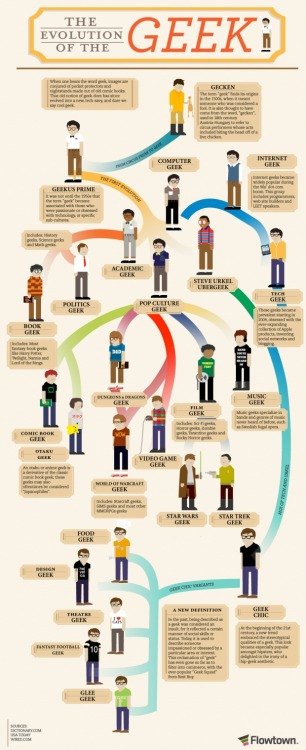 the evolution of the geek infographic http://design.org/inspiration/evolution-geek-infographic