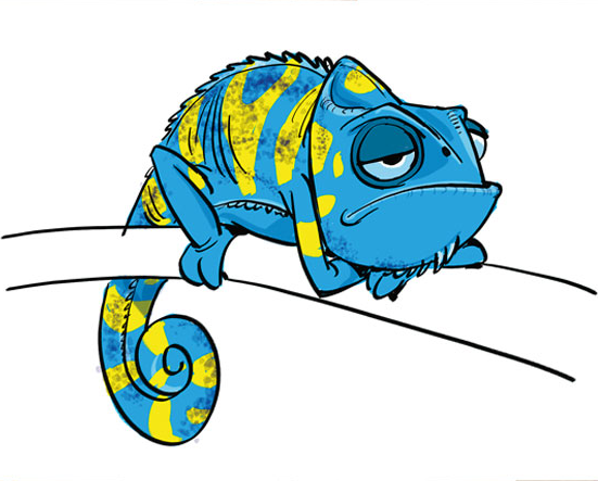 A Blue Pascal by Jin Kim Source: Royal Party iPad App, pg 8 (Dashboard preview); The Art of Tangled, pg 80 [my scan]