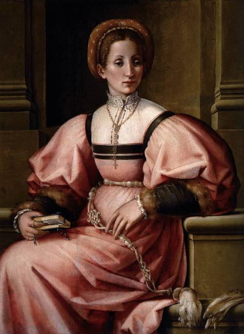 FOSCHI, Pierfrancesco di Jacopo (1502-1567) Portrait of a Lady 1530-35 Oil on panel, 101 x 79 cm Museo Thyssen-Bornemisza, Madrid